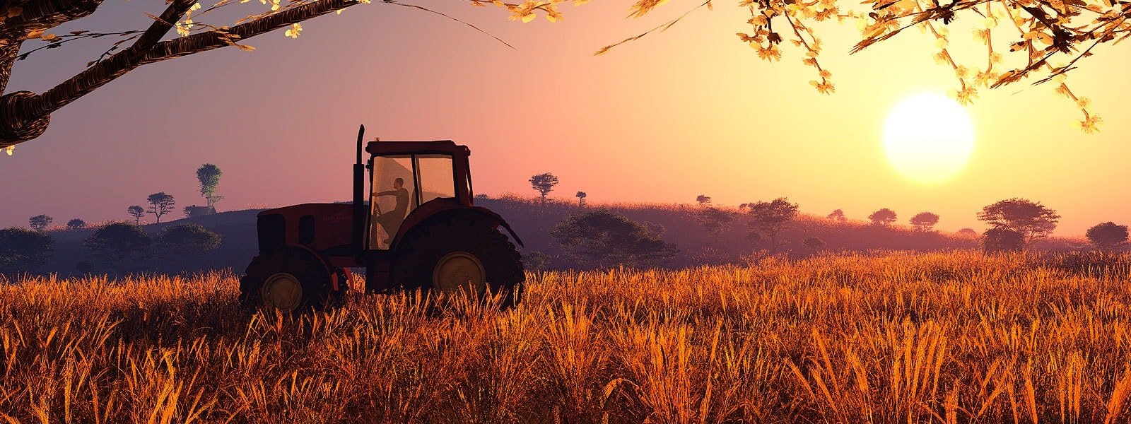 Farm Truck and Sunset